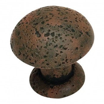"Atlas Homewares, Olde World, 1 3/8"" Round knob, Rust"
