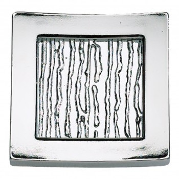 "Atlas Homewares, Primitive, 1 1/2"" Square Knob, Polished Chrome"