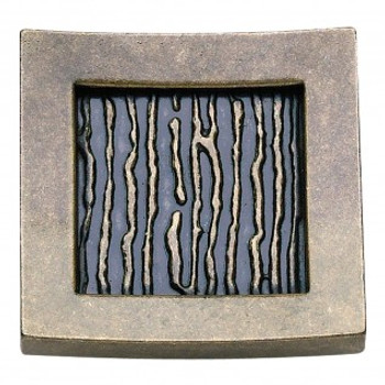 "Atlas Homewares, Primitive, 1 1/2"" Square Knob, Burnished Bronze"
