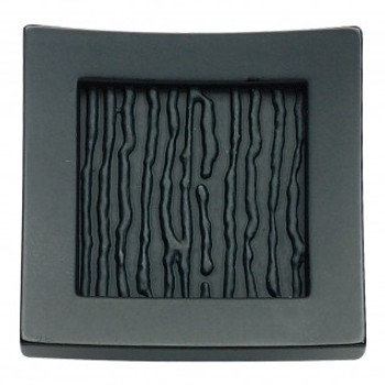 "Atlas Homewares, Primitive, 1 1/2"" Square Knob, Matte Black"