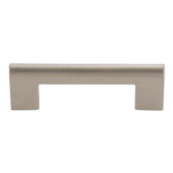 "Atlas Homewares, Round Rail, 3"" Square End Pull, Brushed Nickel"
