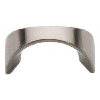 "Atlas Homewares, Sleek, 1 1/4"" Curved Pull, Brushed Nickel"