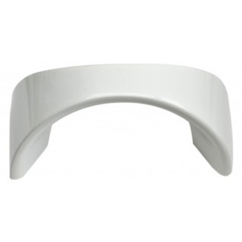 "Atlas Homewares, Sleek, 1 1/4"" Curved Pull, High White Gloss"