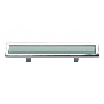 """Atlas Homewares, Spa, 3"""" Bar Pull, Green with Polished Chrome"""