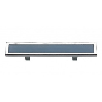 "Atlas Homewares, Spa, 3"" Bar pull, Blue with Polished Chrome"