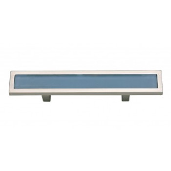 "Atlas Homewares, Spa, 3"" Bar pull, Blue with Brushed Nickel"