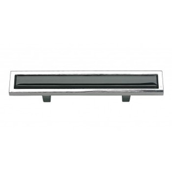 "Atlas Homewares, Spa, 3"" Bar pull, Black with Polished Chrome"