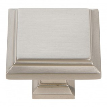 "Atlas Homewares, Sutton Place, 1 1/4"" Square Knob, Brushed Nickel"