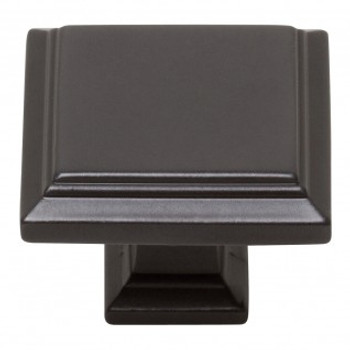 "Atlas Homewares, Sutton Place, 1 1/4"" Square Knob, Modern Bronze"