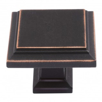"Atlas Homewares, Sutton Place, 1 1/4"" Square Knob, Venetian Bronze"