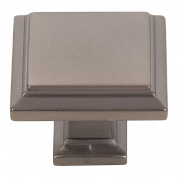 "Atlas Homewares, Sutton Place, 1 1/4"" Square Knob, Slate"