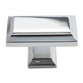 "Atlas Homewares, Sutton Place, 1 7/16"" Rectangle knob, Polished Chrome"