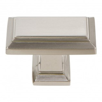 "Atlas Homewares, Sutton Place, 1 7/16"" Rectangle Knob, Brushed Nickel"