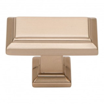 "Atlas Homewares, Sutton Place, 1 7/16"" Rectangle knob, Champagne"
