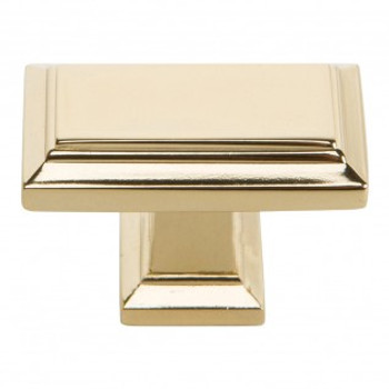 "Atlas Homewares, Sutton Place, 1 7/16"" Rectangle Knob, French Gold"