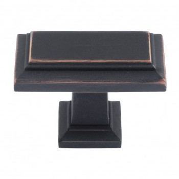 "Atlas Homewares, Sutton Place, 1 7/16"" Rectangle knob, Venetian Bronze"
