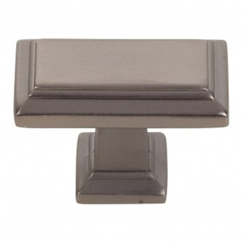 "Atlas Homewares, Sutton Place, 1 7/16"" Rectangle knob, Slate"