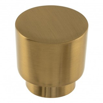 "Atlas Homewares, Tom Tom, 1 1/4"" Round knob, Warm Brass"