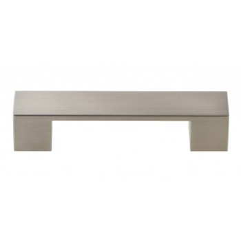 """Atlas Homewares, Wide Square, 3 3/4"""" (96mm) Square Ended Pull, Brushed Nickel"""