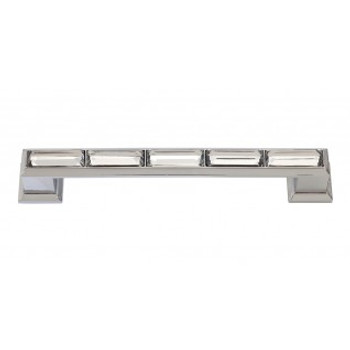 "Atlas Homewares, Crystal, 5 1/16"" (128mm) Crystal Straight pull, Polished Chrome"