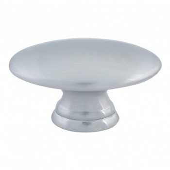 "Atlas Homewares, Successi, 1 1/2"" Oval Knob, Brushed Nickel"