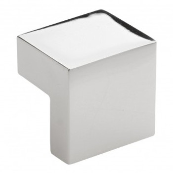 "Atlas Homewares, Successi, 5/8"" Square knob, Polished Nickel"