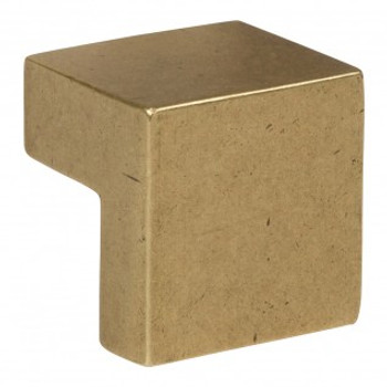 "Atlas Homewares, Successi, 5/8"" Square knob, Vintage Brass"