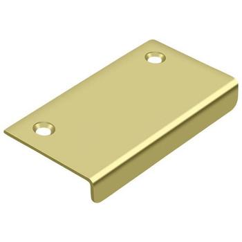 "Deltana, 3"" x 1 1/2"" Finger pull, Polished Brass"