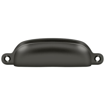 "Deltana, 3 5/8"" Exposed Screw Cup pull, Oil Rubbed Bronze"