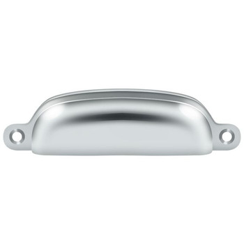 "Deltana, 3 5/8"" Exposed Screw Cup pull, Polished Chrome"