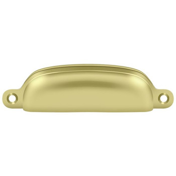"Deltana, 3 5/8"" Exposed Screw Cup pull, Polished Brass"