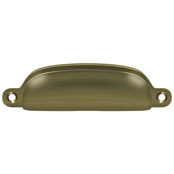 "Deltana, 3 5/8"" Exposed Screw Cup pull, Antique Brass"