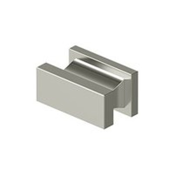 "Deltana, 1 1/2"" Rectangle Knob, Polished Nickel"