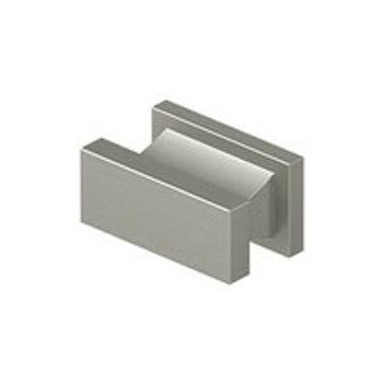 "Deltana, 1 1/2"" Rectangle knob, Brushed Nickel"