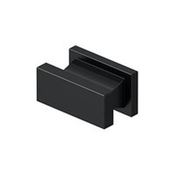 "Deltana, 1 1/2"" Rectangle knob, Paint Black"