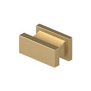 "Deltana, 1 1/2"" Rectangle knob, Brushed Brass"