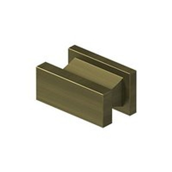 "Deltana, 1 1/2"" Rectangle knob, Antique Brass"
