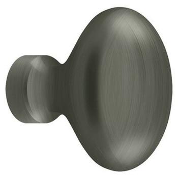 """Deltana, 1 1/4"""" Oval Knob, Antique Nickel"""
