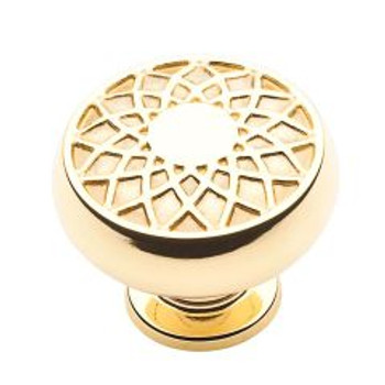 "Baldwin, Couture A, 1 1/4"" Round Knob, Polished Brass"