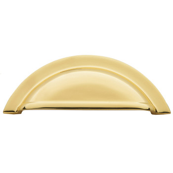 """Baldwin, Cup Pull, 4"""" Cup Pull, Polished Brass"""