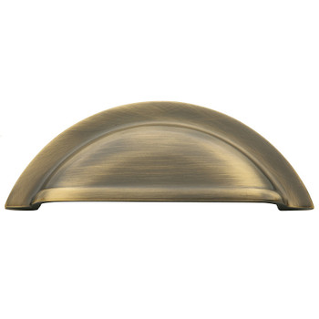 """Baldwin, Cup Pull, 4"""" Cup Pull, Satin Brass with Black"""
