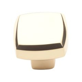 "Baldwin, Severin Fayerman, 1 1/4"" Square Knob, Polished Brass"