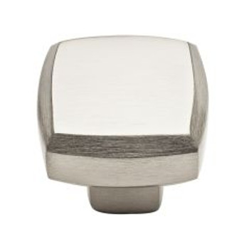 "Baldwin, Severin, 1 1/4"" Square knob, Satin Nickel"