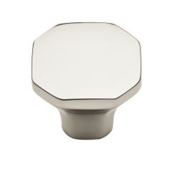 "Baldwin, Severin, 1 1/16"" Octagon knob, Polished Nickel"