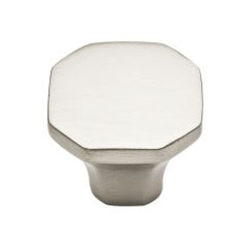 "Baldwin, Severin, 1 1/16"" Octagon knob, Satin Nickel"