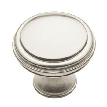 "Baldwin, Severin, 1 5/16"" Round knob, Satin Nickel"