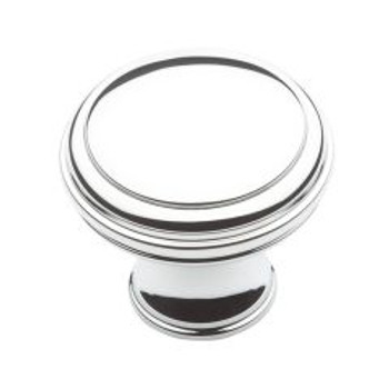 "Baldwin, Severin, 1 5/16"" Round knob, Polished Chrome"