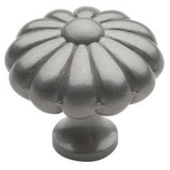 "Baldwin, Melon, 1 3/8"" Round knob, Satin Nickel"