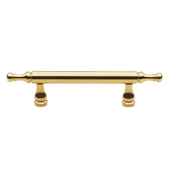 "Baldwin, Spindle, 2 1/2"" (64mm) Bar Pull, Polished Brass"