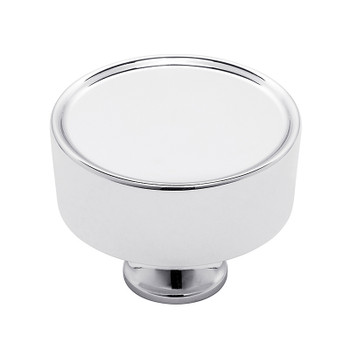 "Baldwin, Hollywood Hills, 1 1/2"" Round Knob, Polished Chrome"
